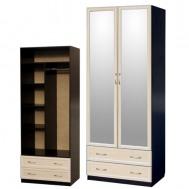 Шкаф 2-дверный с ящиками и зеркалами картинка