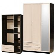 Шкаф 3-дверный с большим зеркалом картинка