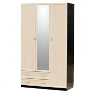 Шкаф 3-дверный с малым зеркалом картинка