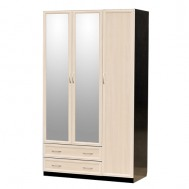 Шкаф 3-дверный с двумя зеркалами картинка