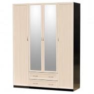 Шкаф распашной 4-дверный с зеркалами картинка
