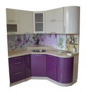 Кухня с радиусными фасадами картинка