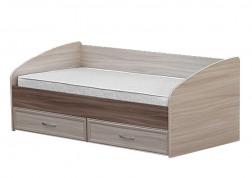 Кровать с ящиками и задней спинкой картинка