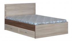 Кровать 2-спальная с ящиками и прямой спинкой картинка