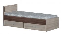 Кровать 1-спальная с ящиками и прямой спинкой картинка